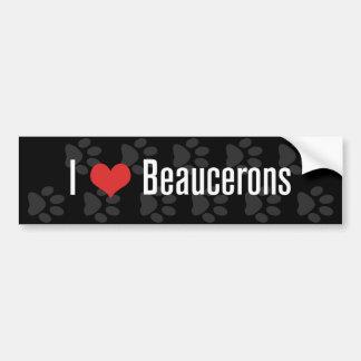 Mig (hjärta) Beaucerons (mörk) Bildekal