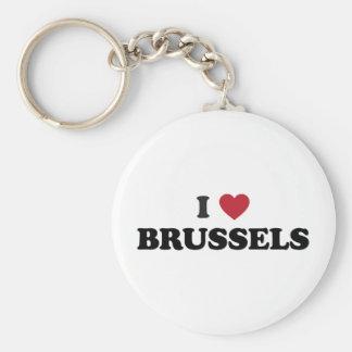 Mig hjärta Bryssel Belgien Rund Nyckelring