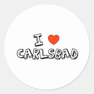 Mig hjärta Carlsbad Runt Klistermärke