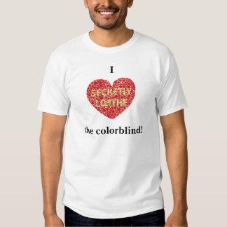 Mig hjärta det colorblind tee shirt