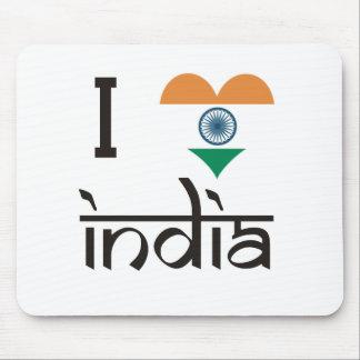 """Mig """"hjärta"""" Indien - jag älskar Indien Musmatta"""