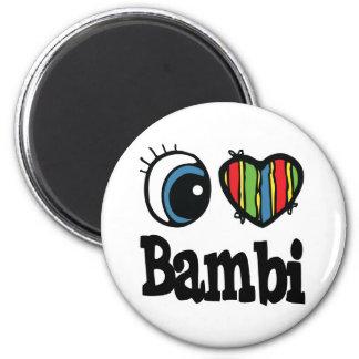Mig hjärta (kärlek) Bambi Magnet Rund 5.7 Cm