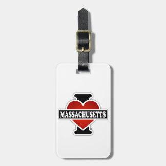 Mig hjärta Massachusetts Bagagebricka