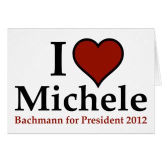 Mig hjärta Michele Bachmann Hälsningskort