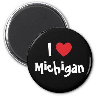 Mig hjärta Michigan Magnet