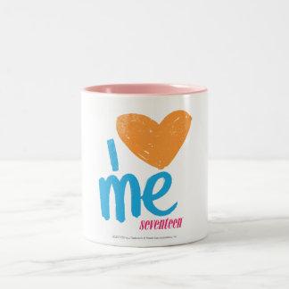 Mig hjärta mig orange/Aqua Två-Tonad Mugg