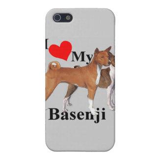Mig hjärta min Basenji iPhone 5 Fodraler