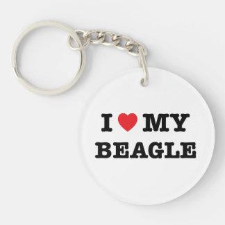 Mig hjärta min Beagleakryl Keychain