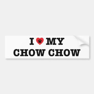 Mig hjärta min bildekal för ChowChow