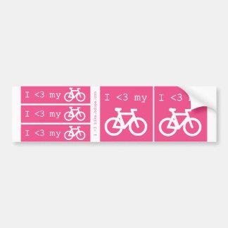 Mig (hjärta) min cykel bildekal