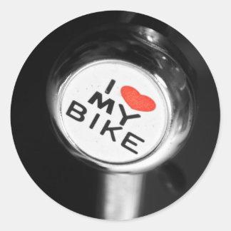 Mig hjärta min cykel runt klistermärke