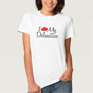 Mig hjärta min Dalmatian hund Tee
