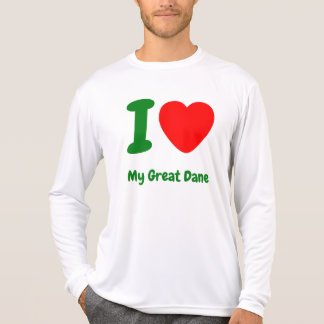 Mig hjärta min great dane t-shirt