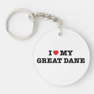 Mig hjärta min great daneakryl Keychain
