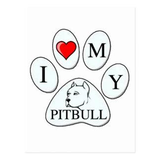 Mig hjärta min groptjurtass - hund, husdjur, bästa vykort