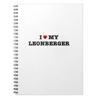 Mig hjärta min Leonberger spiral anteckningsbok
