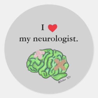 Mig [hjärta] min neurologist runt klistermärke
