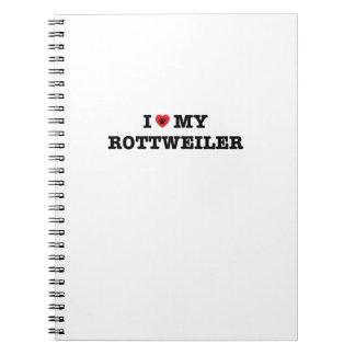 Mig hjärta min Rottweiler spiral anteckningsbok