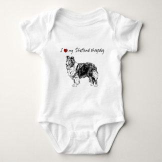 """""""Mig """"hjärta"""" min Shetland sheepdog"""" med den T Shirts"""