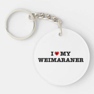 Mig hjärta min Weimaraner akryl Keychain