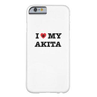 Mig hjärta mitt Akita mobila fodral Barely There iPhone 6 Skal