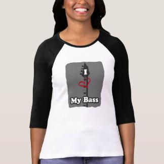 Mig hjärta mitt bas- (bw/st) t shirt