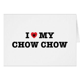 Mig hjärta mitt kort för hälsning för ChowChow -