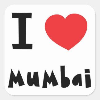 Mig hjärta Mumbai/Bombay Fyrkantigt Klistermärke