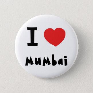 Mig hjärta Mumbai/Bombay Standard Knapp Rund 5.7 Cm
