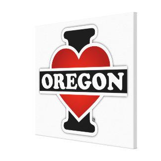 Mig hjärta Oregon Canvastryck