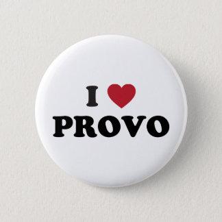 Mig hjärta Provo Utah Standard Knapp Rund 5.7 Cm