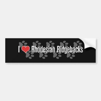 Mig (hjärta) Rhodesian Ridgebacks Bildekal
