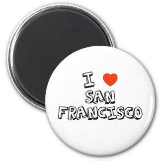 Mig hjärta San Francisco Magnet