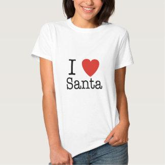 Mig hjärta Santa Tee Shirts