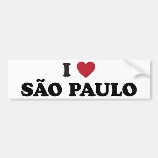 Mig hjärta Sao Paulo Brasilien Bildekal