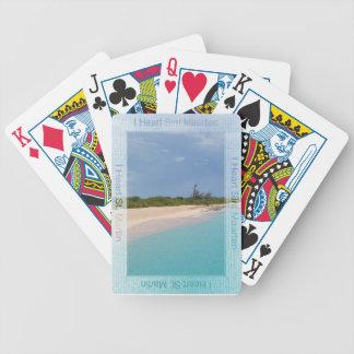 Mig hjärta Sint Maarten som leker kort Spelkort