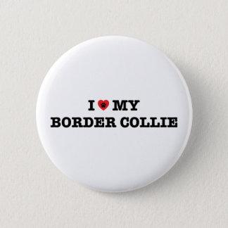 Mig hjärta som min gränsCollie knäppas Standard Knapp Rund 5.7 Cm
