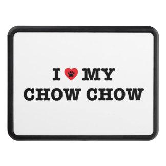 Mig hjärta som min hake för ChowChow täcker Dragkroksskydd