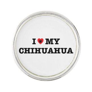 Mig hjärta som mitt Chihuahuaslag klämmer fast Kavajnål
