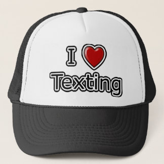 Mig hjärta Texting Truckerkeps
