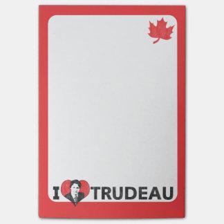 Mig hjärta Trudeau Post It Block