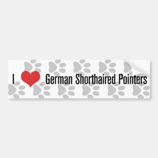 Mig (hjärta) tyska Shorthaired pekare Bildekal