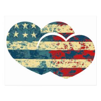 Mig hjärta USA Vykort