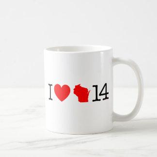 Mig hjärta Wisconsin 14 Kaffemugg