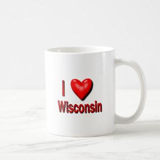 Mig hjärta Wisconsin Kaffemugg