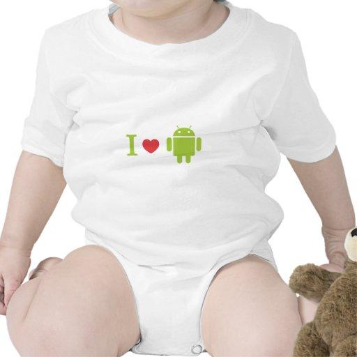 Mig hjärtaAndroid T-shirt