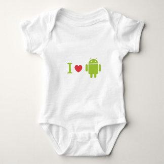Mig hjärtaAndroid Tee Shirt
