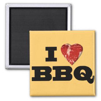 Mig hjärtaBBQ, roligt grilla för SteakhjärtaShape Magnet