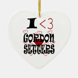 Mig hjärtaGordon Setters Julgransprydnad Keramik