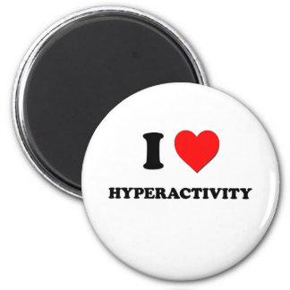 Mig hjärtaHyperactivity Kylskåpmagneter